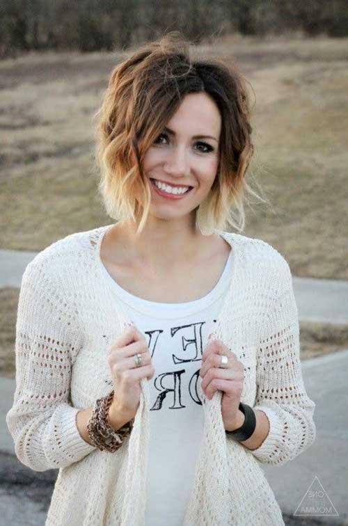 Ombre Cor de cabelo para cabelo curto-15