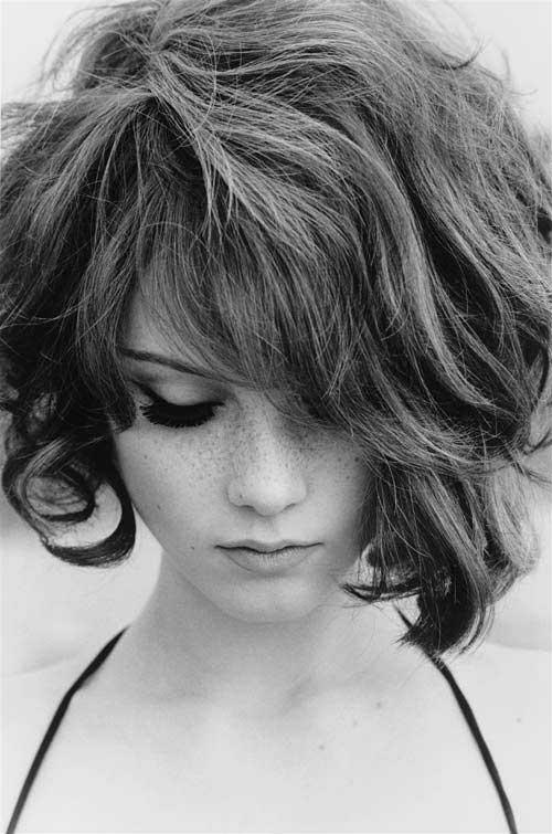 Penteados para cabelo curto com Bangs-13