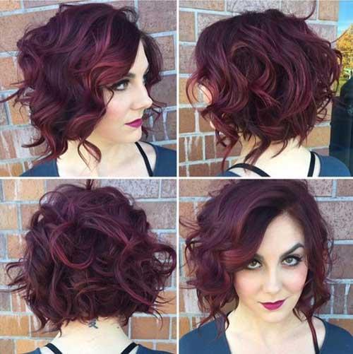 ondulado cabelo- Curto 13
