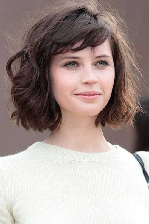 Penteados para cabelo curto com Bangs-17