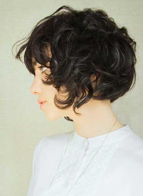 Penteados para cabelo curto com Bangs-18