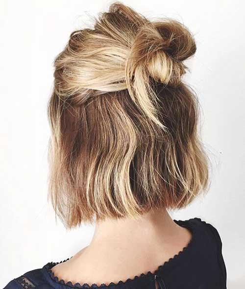 Formas bonito de estilo de cabelo curto-19