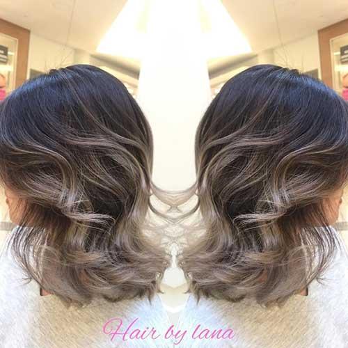 Cor de cabelo Ombre para o cabelo-6 Short