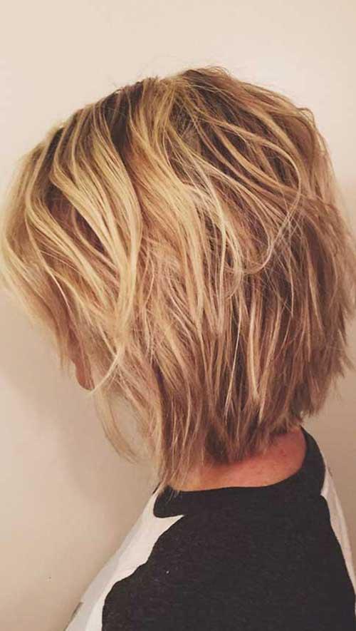 Penteados para curto em camadas Cabelo-8