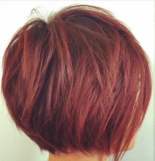 Penteados para curto em camadas Cabelo-9