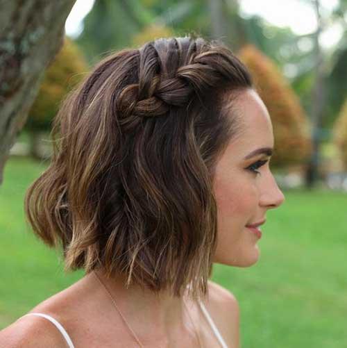 Formas bonito de estilo de cabelo curto