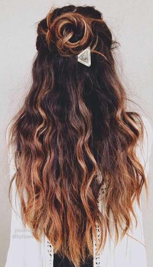 Estilos longo cabelo cortado