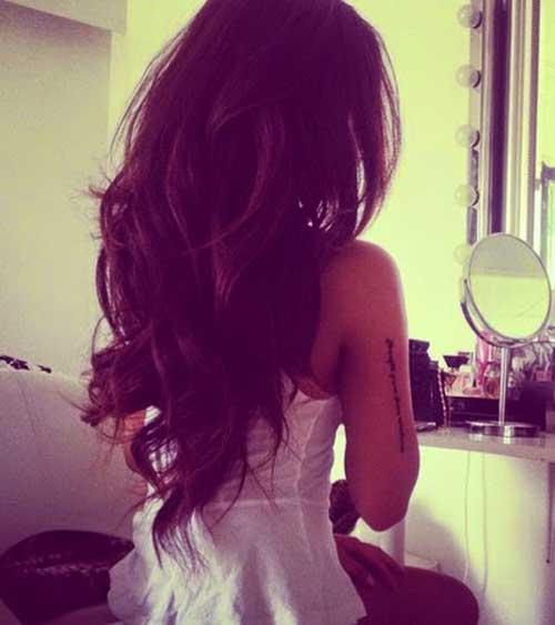 Estilos longo Layered cabelo