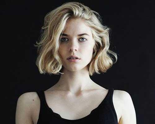 corte de cabelo curto para o cabelo ondulado