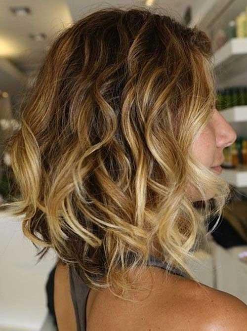 Curtas penteados para cabelo ondulado