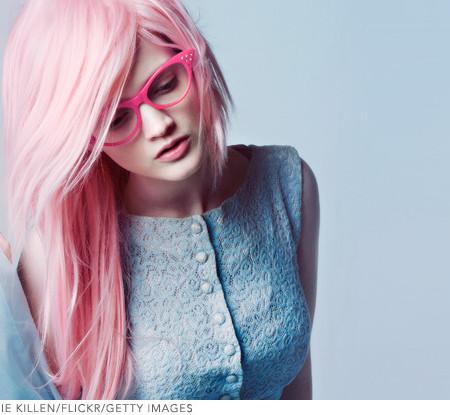 cabelo rosa para senhoras adolescente