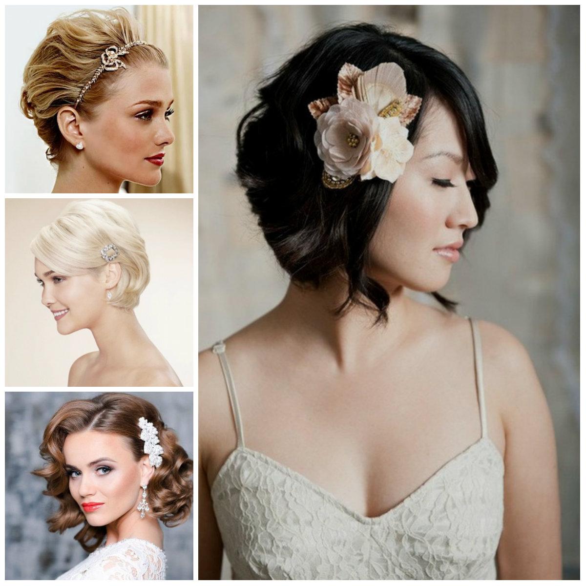 penteado curto casamento para fêmeas 2016