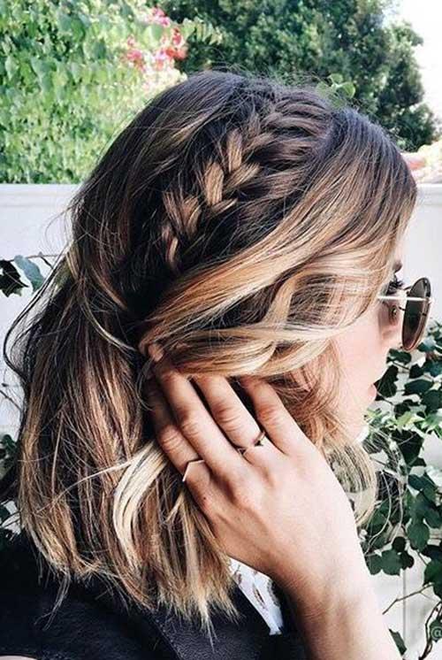 15 Trançado Penteados para Cabelo Curto