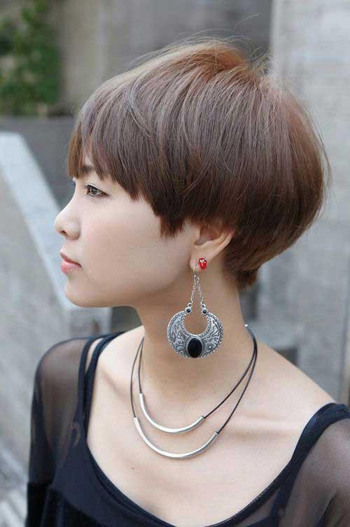 asiática bonito Pixie Cut-10