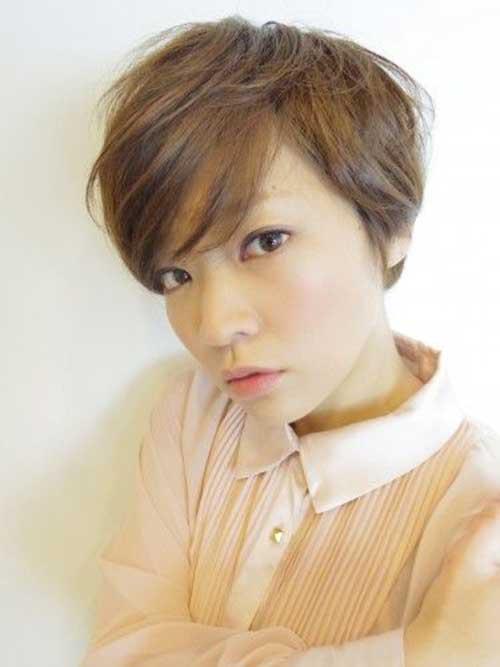 asiática bonito Pixie Cut-13