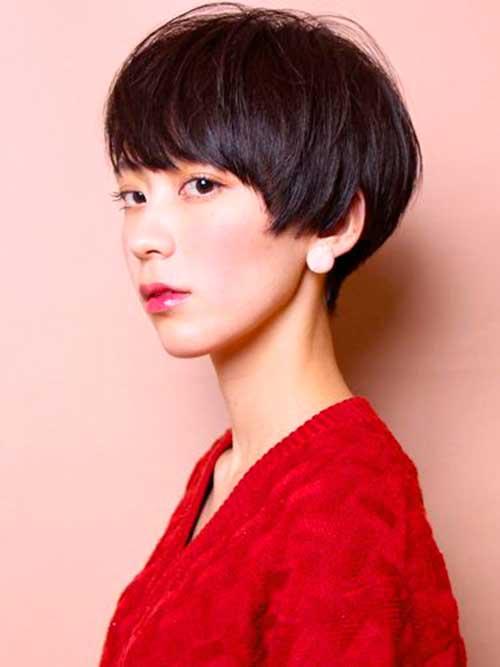 asiática bonito Pixie Cut-14