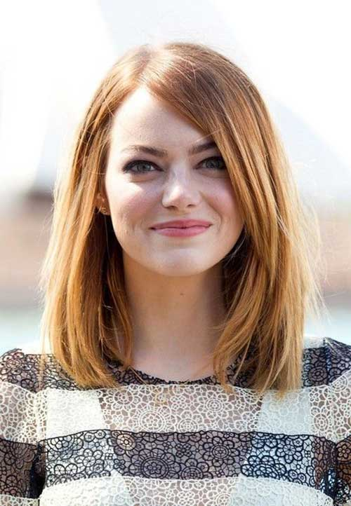 Curtas Cortes de cabelo para a Rodada Faces-15