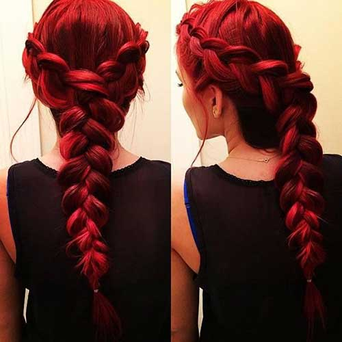 15.Red-Long-Hairstyle