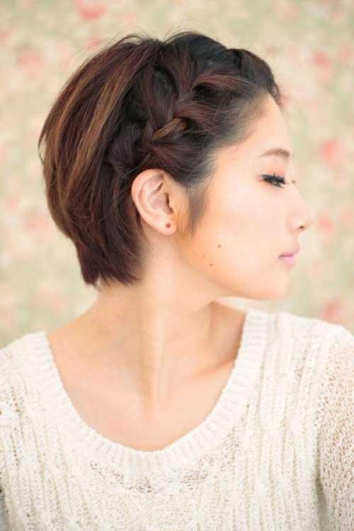 asiática bonito Pixie Cut-16