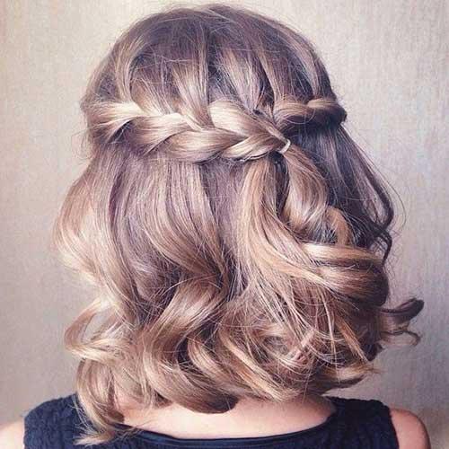 2. trançado penteado para o cabelo curto