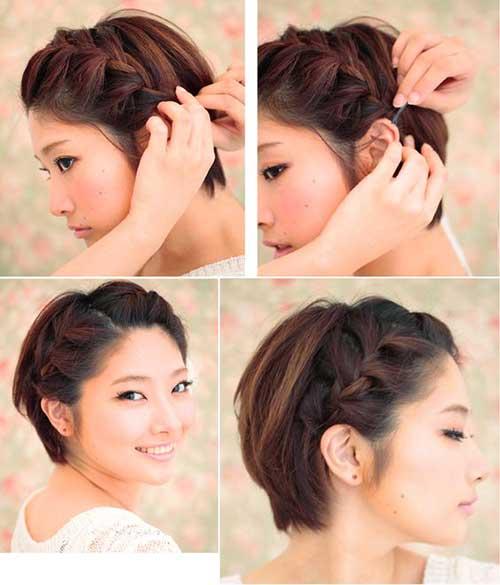 3. bonito Braid para o cabelo curto