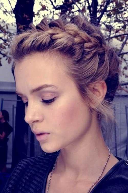 5. trançar o cabelo para o cabelo curto