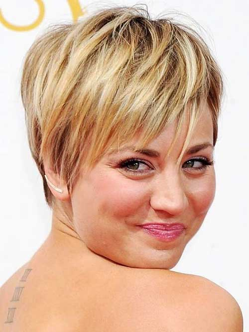 Curtas Cortes de cabelo para a Rodada Faces-6