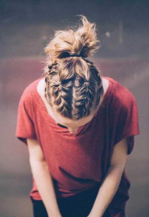 Trançado Penteados para cabelos-6 Short