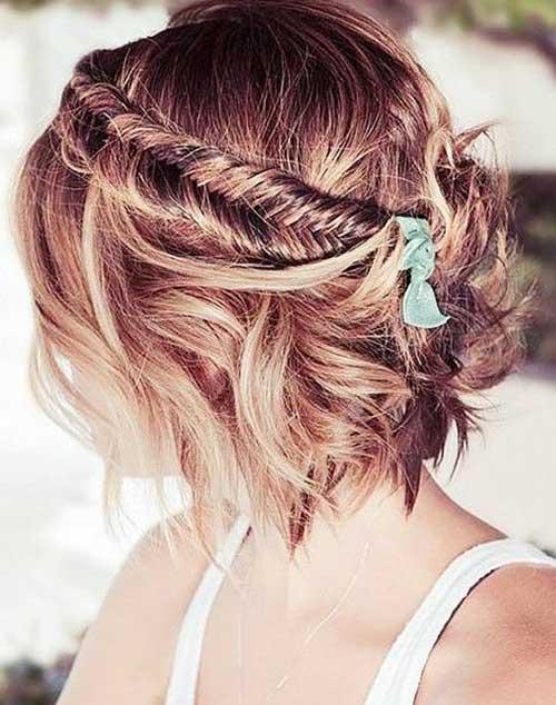 Trançado Penteados para cabelos-7 Short
