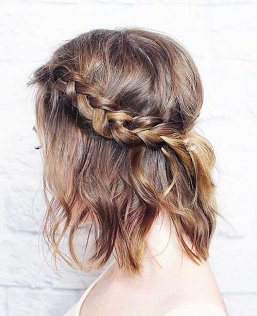 Trançado Penteados para cabelos-8 Short