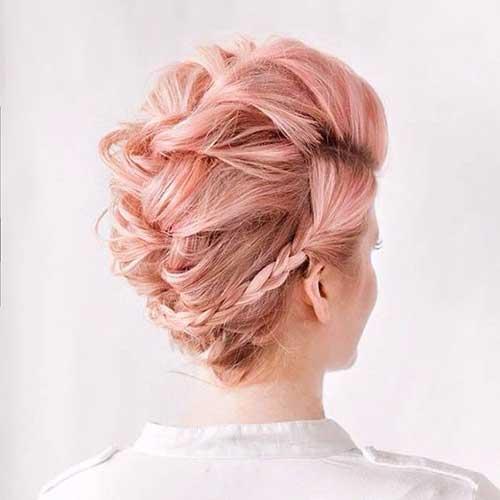 Trançado Penteados para cabelos-9 Short