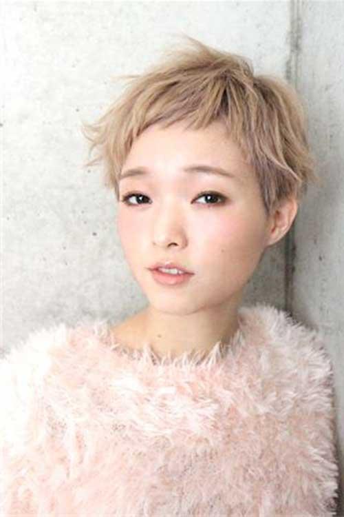asiática bonito Pixie Cut-9