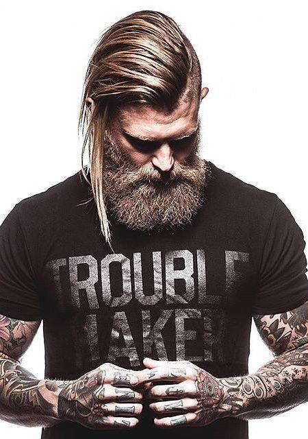 Asymmetric Penteado com cabelo dourado Destaques