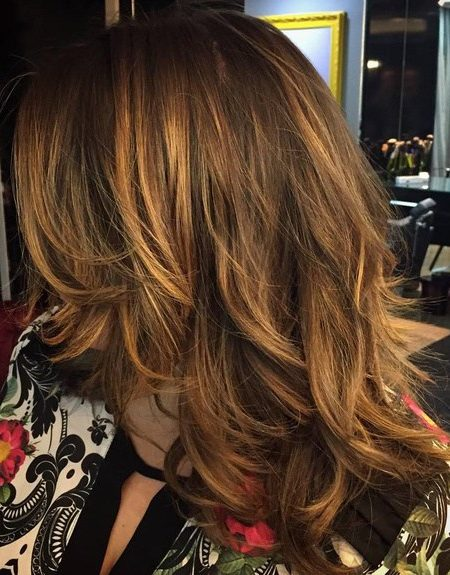 Camadas sutis para o cabelo longo