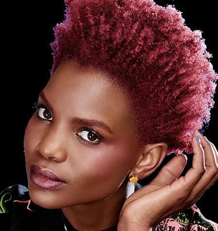 vermelho brilhante para as mulheres afro-americanos