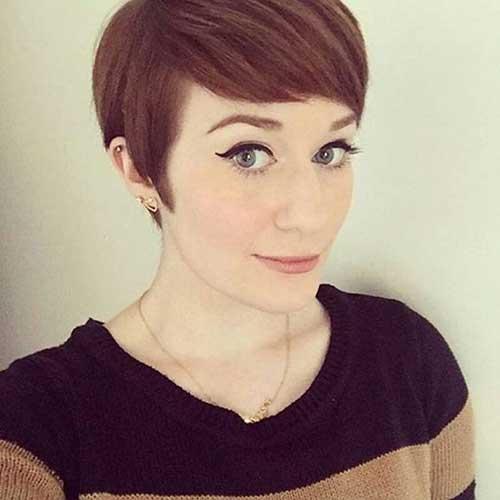 Cortes de cabelo bonito curto com franja