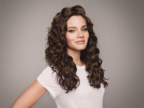 Layered Curly cortes de cabelo