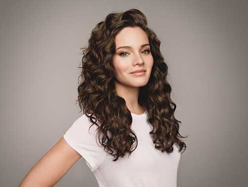 30 + Super Long Layered Curly Cortes de Cabelo