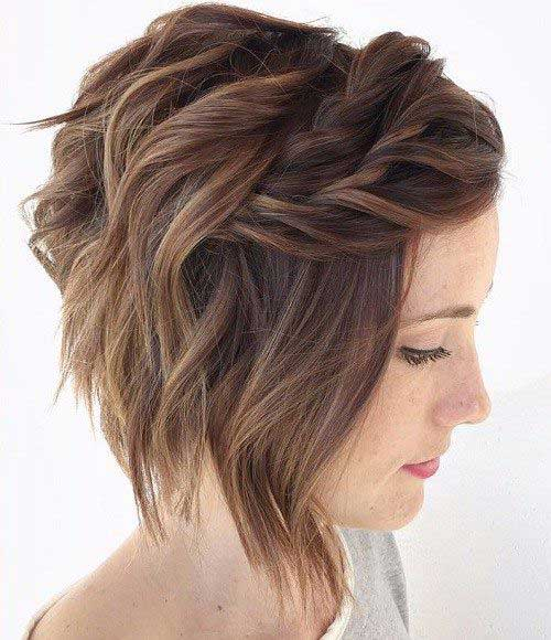 Layered penteados para o cabelo curto