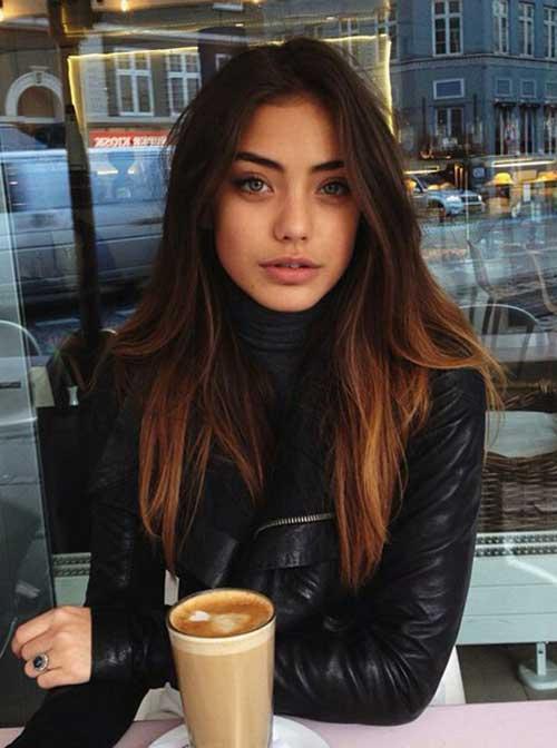longa do cabelo escuro idéias de cores