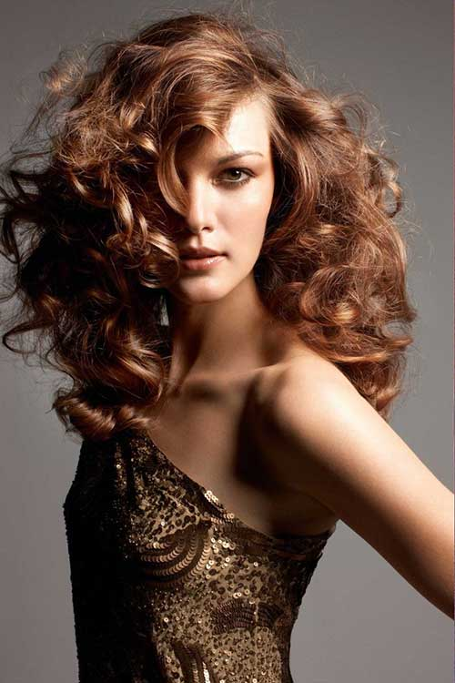 Long Layered cabelo encaracolado