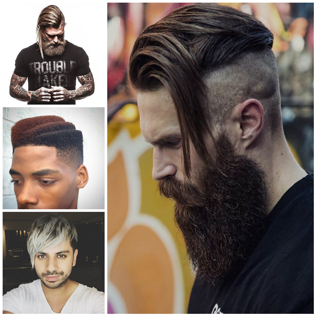 Mens assimétricas Cortes de cabelo para Rock