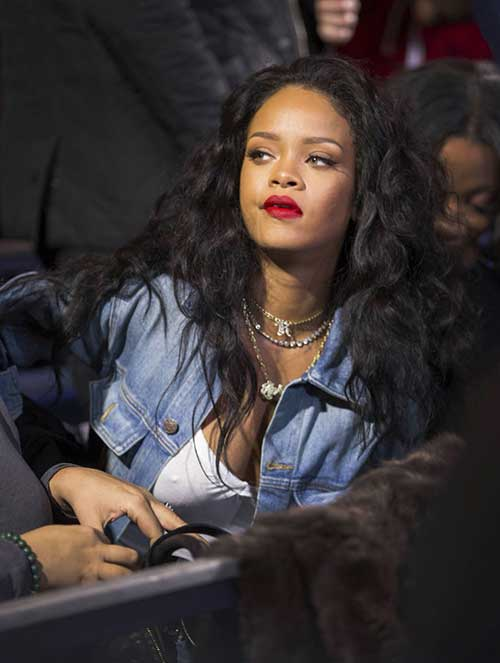 Rihanna-Long-Curly-Weave-Hair