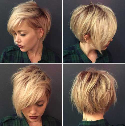 15 + Top cortes de cabelo curto para rostos redondos