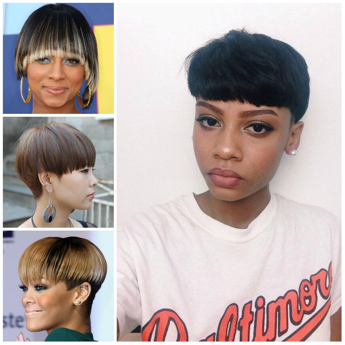 Mushroom corte de cabelo das mulheres