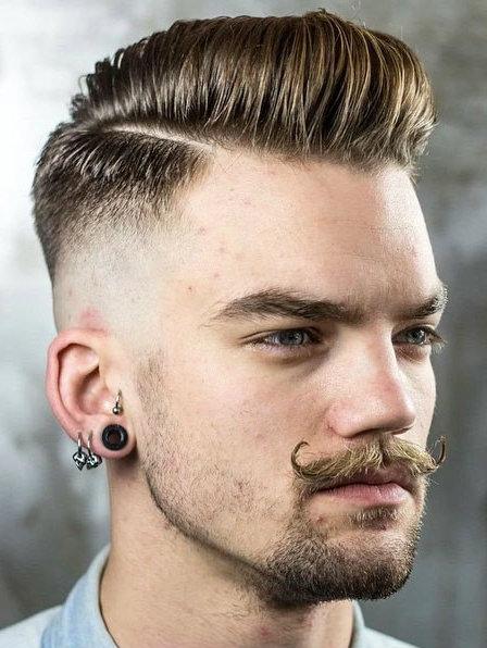 pente sobre o penteado de fade para os homens 2016