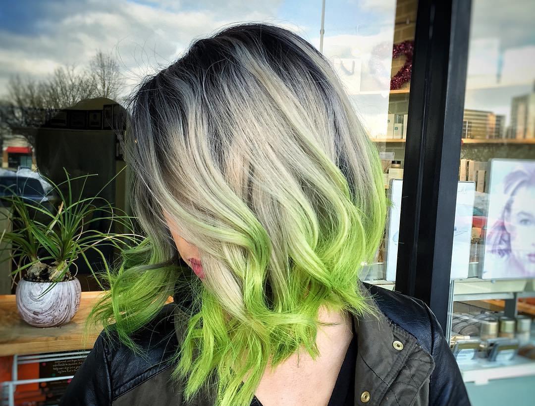 Sereia de cabelo banhado Verde para 2017