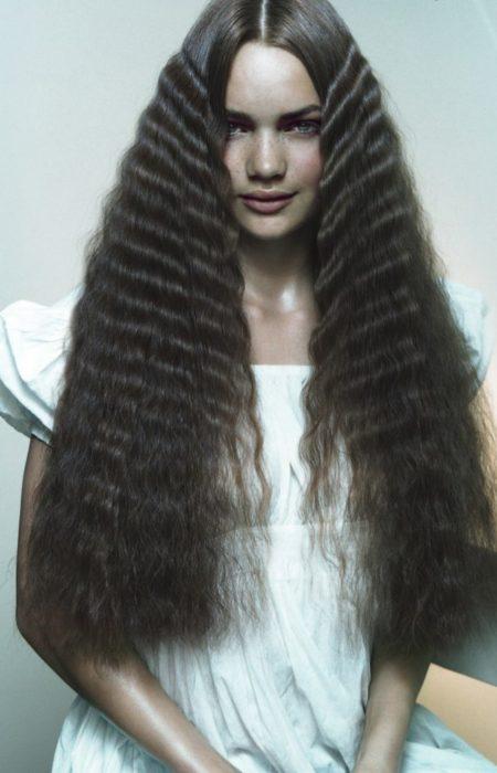 penteado frisado para cabelos finos