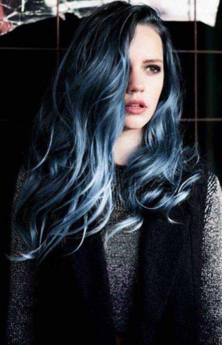 denim cabelo azul