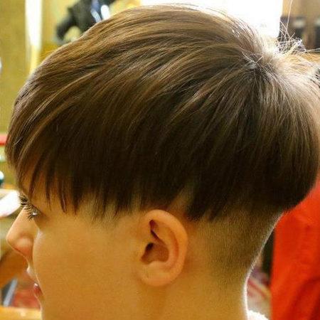 haircut cogumelo para as mulheres